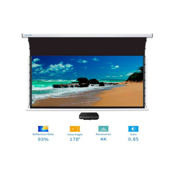 """Liberty Screen Pro Benz 110"""" 16:9 ALR Motorized Tab Tensioned For Short Throw Projector"""