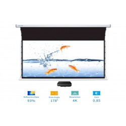 "Liberty Screen Pro Benz 120"" 16:9 ALR Motorized Tab Tensioned For Short Throw Projector"