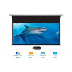 "Liberty Screen Pro Benz 145"" 16:9 ALR Motorized Tab Tensioned For Short Throw Projector"