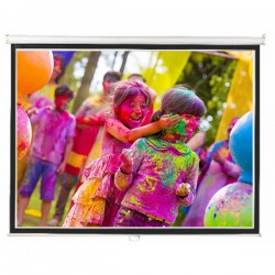 "Liberty Lite ( 6'x8') 120"" (4:3) Instalock  Screen with SRS"