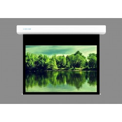 """Liberty Screen Pro Topview 300"""" (4:3) Giant Motorized Screen - Stainless Steal (Black Drop UP 100mm)"""