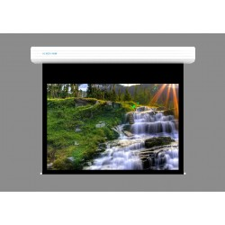 "Liberty Screen Pro Topview 250"" (4:3) Giant Motorized Screen - Stainless Steal (Black Drop UP 350mm)"