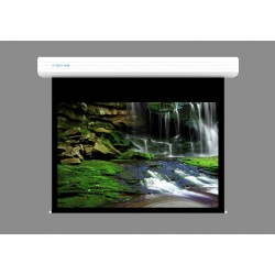 """Liberty Screen Pro Topview 300"""" (4:3) Giant Motorized Screen - Stainless Steal (Black Drop UP 350mm)"""