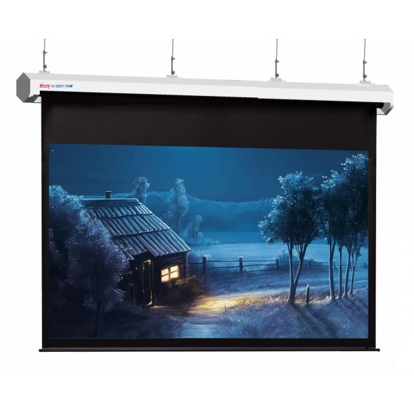 "Liberty Screen Pro Topview Plus 350"" (16:9) Giant Motorized Screen - Stainless Steal (Black Drop UP 350mm)"