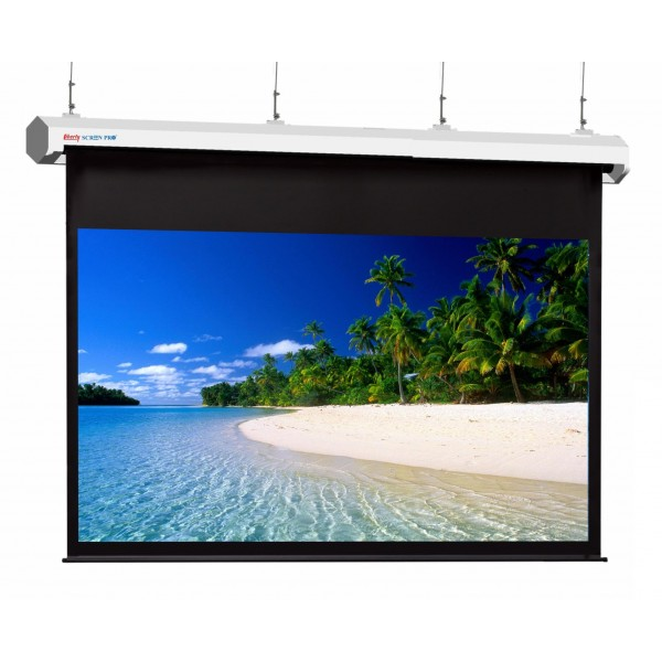 "Liberty Screen Pro Topview Plus 400"" (16:9) Giant Motorized Screen - Stainless Steal (Black Drop UP 350mm)"