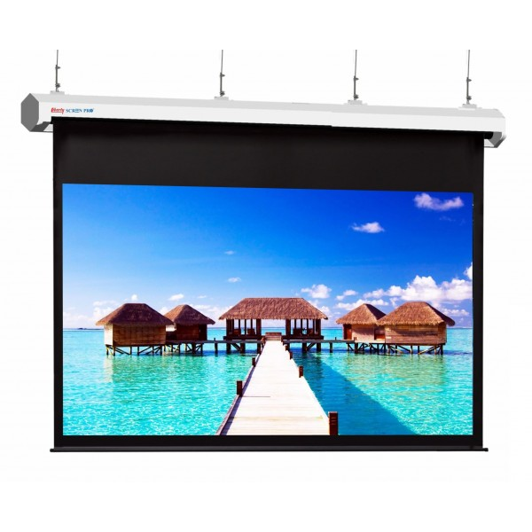 "Liberty Screen Pro Topview Plus 350"" (16:10) Giant Motorized Screen - Stainless Steal (Black Drop UP 350mm)"