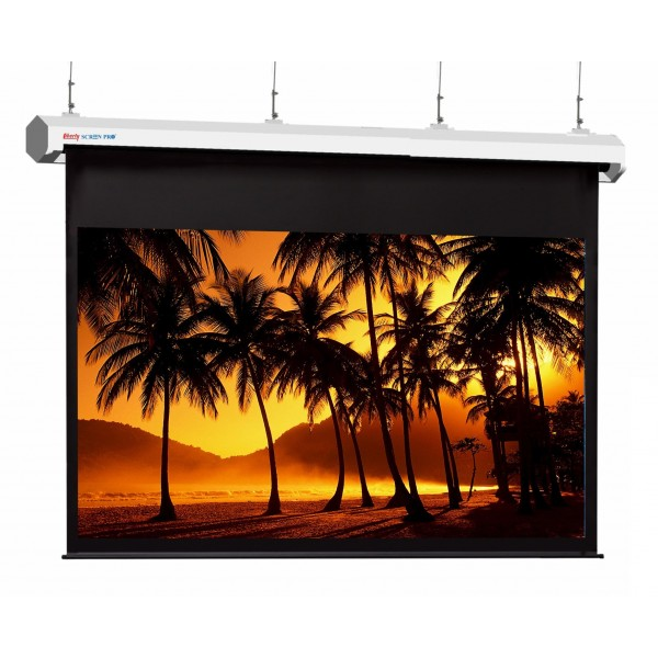 "Liberty Screen Pro Topview Plus 400"" (16:10) Giant Motorized Screen - Stainless Steal (Black Drop UP 350mm)"