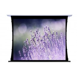 """Liberty Screen Pro 100"""" 16:9 Unique In-Ceiling Recessed Tab Tension Motorized T8 Screen"""