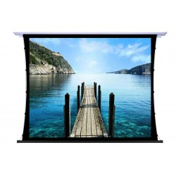 """Liberty Screen Pro 100"""" 4:3 Unique In-Ceiling Recessed Tab Tension Motorized 8K Screen"""