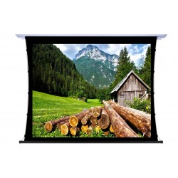 """Liberty Screen Pro 100"""" 16:9 Unique In-Ceiling Recessed Tab Tension Motorized TW Screen"""
